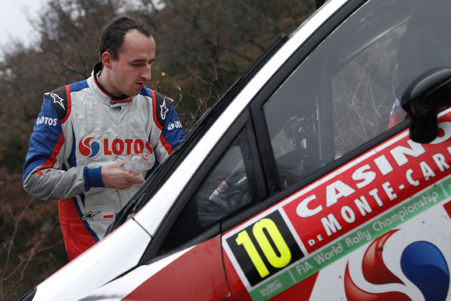 Robert Kubica prepares for what was the final stage