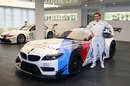 Ex-F1 driver and Paralympic gold medalist Alex Zanardi poses for a photo on his return to motorsport