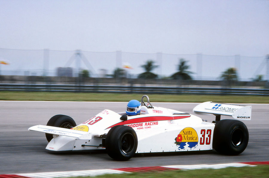 Patrick Tambay at the wheel of the Theodore TY01