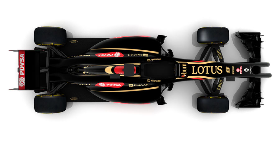 An overhead view of the new Lotus E22