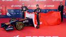 Daniil Kvyat and Jean-Eric Vergne  unveil the Toro Rosso STR9