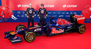 Daniil Kvyat and Jean-Eric Vergne pose with the STR9