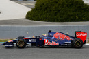 A side on view of Jean-Eric Vergne putting the STR9 through its paces