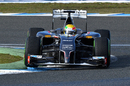 Esteban Gutierrez guides the Sauber through a corner