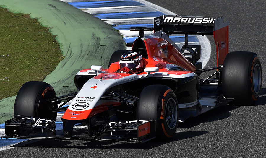 Max Chilton out on track in the Marussia