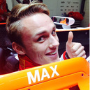 Max Chilton in the cockpit of the MR03