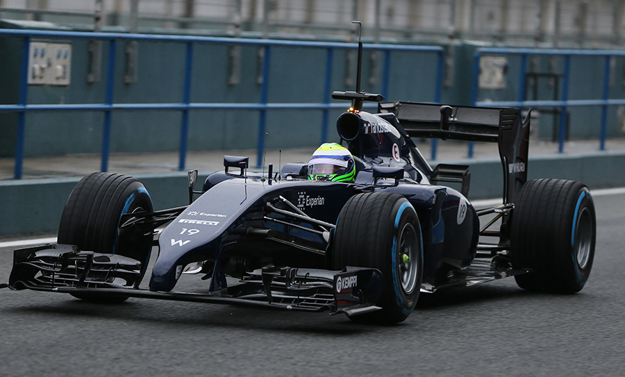 Felipe Massa makes his way out to the track