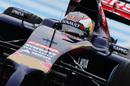 Number 26 Daniil Kvyat behind the wheel of the Toro Rosso