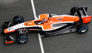 Jules Bianchi in action on the final day of testing