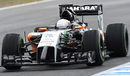 Daniel Juncadella jumps to the top of the timesheets on a drying track