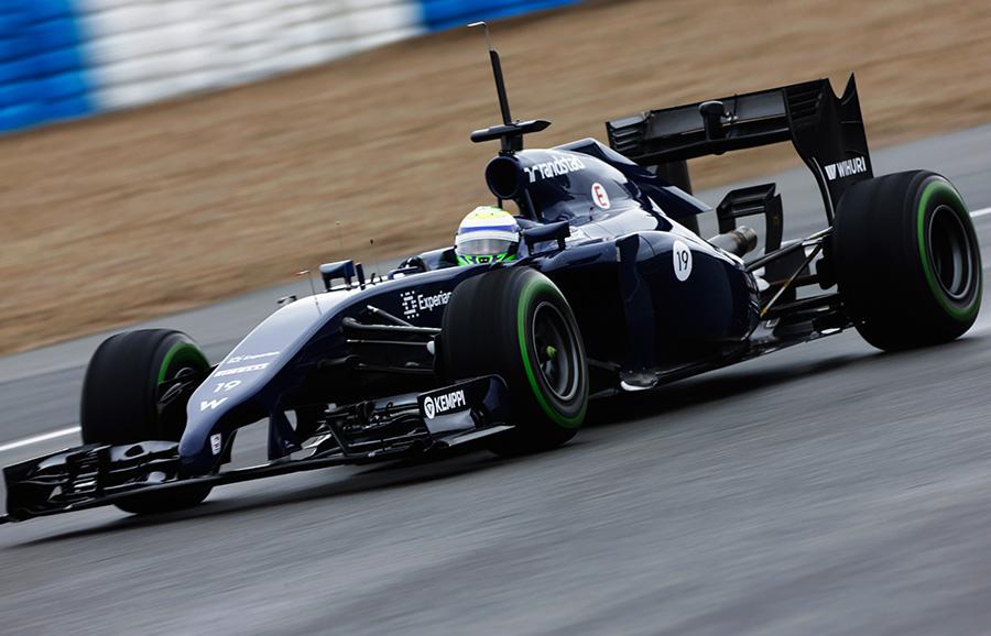 Felipe Massa during another impressive stint in his new Williams
