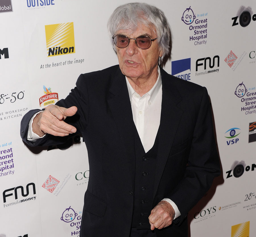 Bernie Ecclestone arrives at ZOOM, a Formula One photographic charity auction in aid of Great Ormond Street