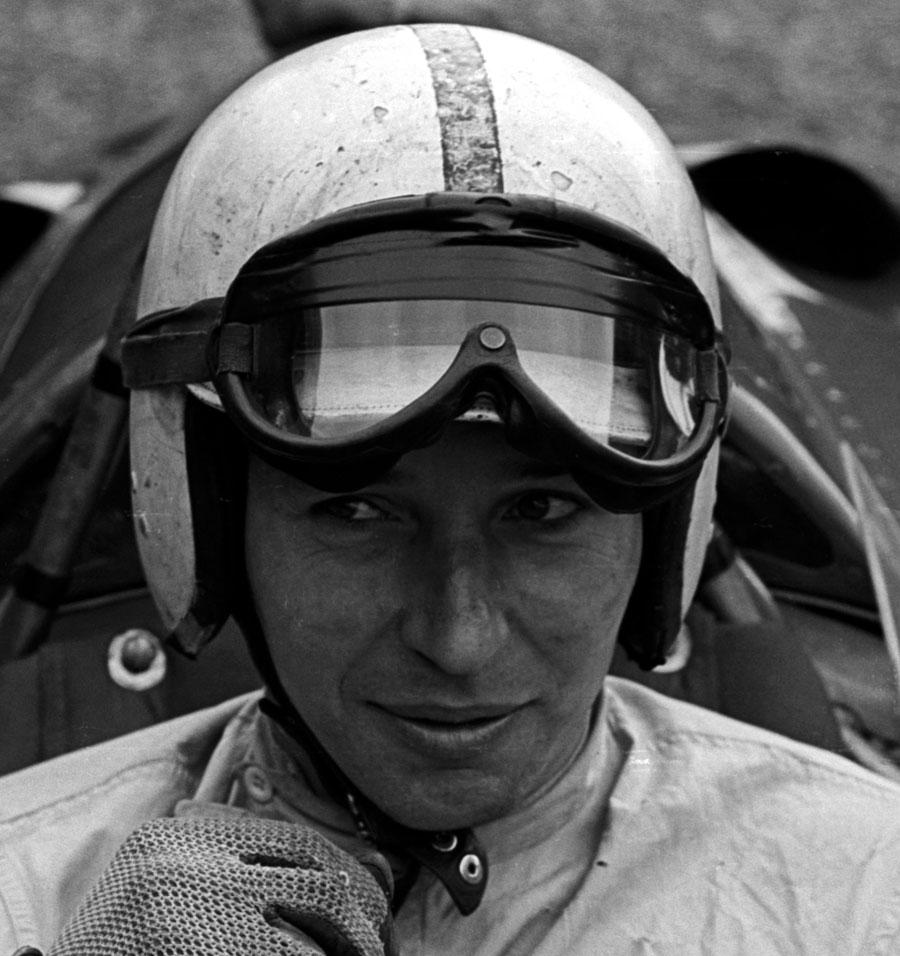 John Surtees behind the wheel