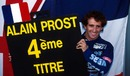 Alain Prost anounced his retirement from the sport after clinching his fourth drivers' title in Estoril