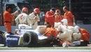 Medics tend to a fatally injured Ayrton Senna at Imola