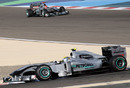 Nico Rosberg leads Mercedes team-mate Michael Schumacher
