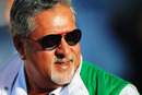 Vijay Mallya in a good mood after his team qualified on pole