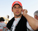 Jenson Button prepares for the start of the race