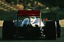 Lewis Hamilton exits the pit lane during testing