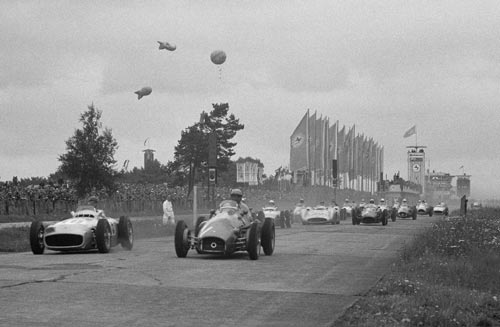 The start of the European Grand Prix