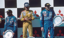 Keke Rosberg on the podium in Australia