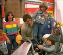 Gilles Villeneuve puts son Jacques at the controls of his Ferrari Formula One car