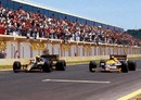 Race winner Ayrton Senna beats Nigel Mansell by 0.014s in the second closest finish of all time
