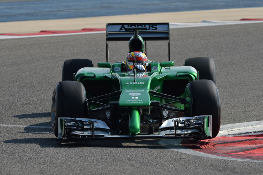 Robin Frijns at the wheel of the Caterham CT05
