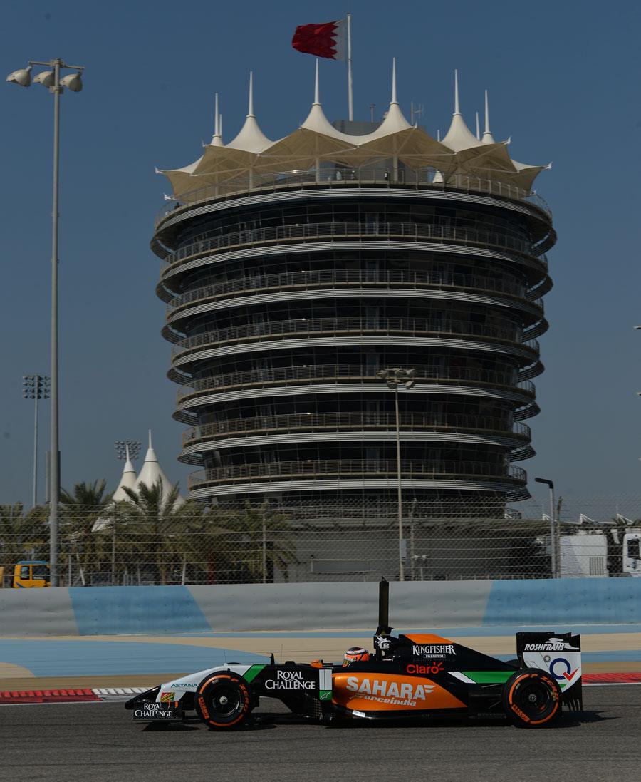 Nico Hulkenberg heads down to Turn One