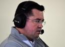 New McLaren racing director Eric Boullier oversees proceedings