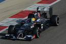 Esteban Gutierrez putting the Sauber through its paces
