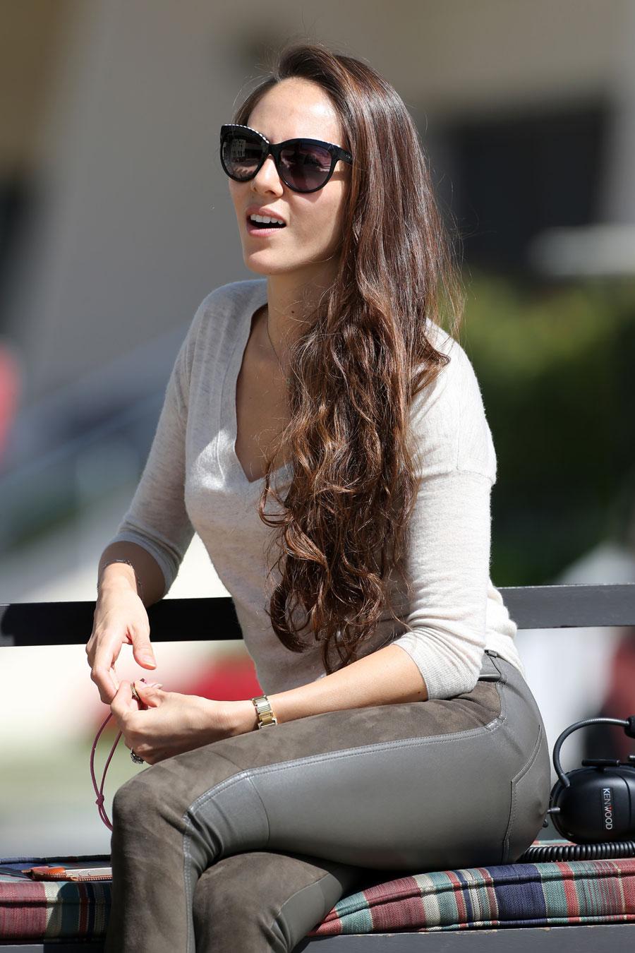 Jessica Michibata in the paddock