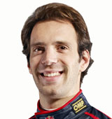 Jean-Eric Vergne in the Toro Rosso garage