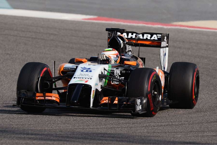 Sergio Perez on the supersoft tyre