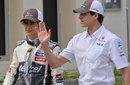 Sauber team-mates Esteban Gutierrez and Adrian Sutil