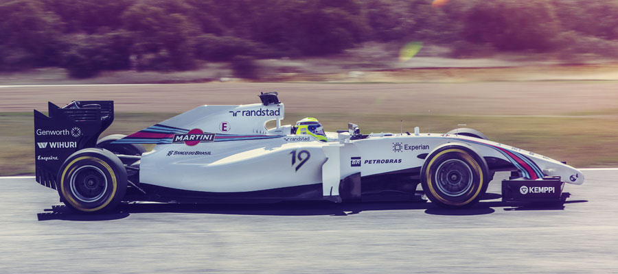 A side look at the new Williams Martini livery