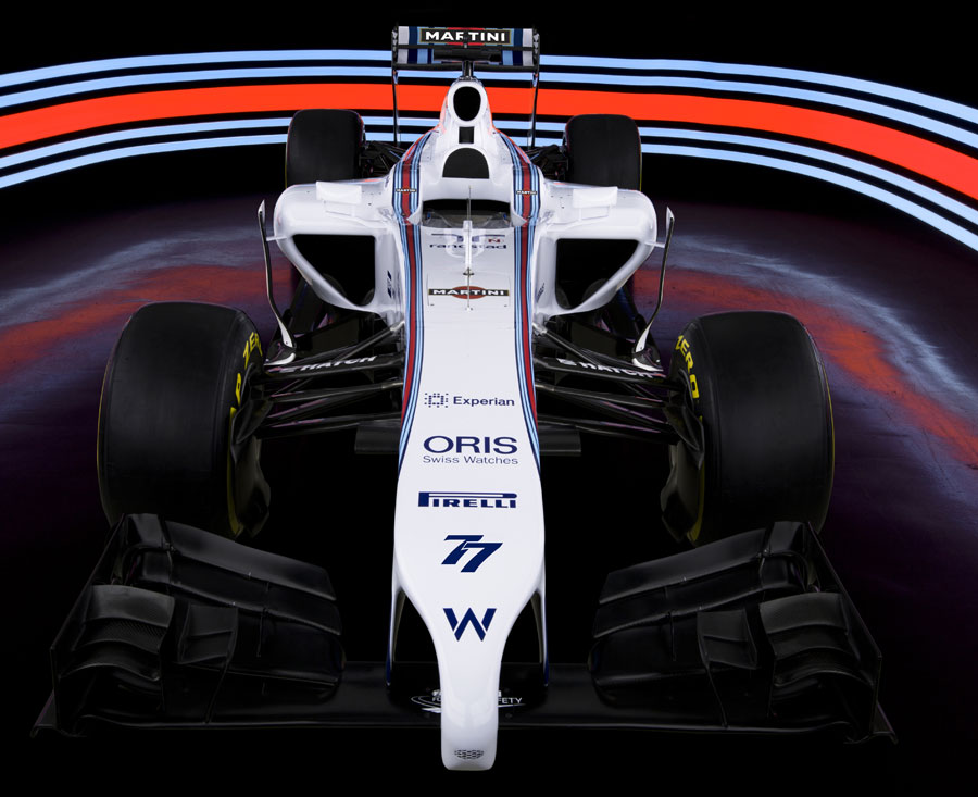 A close up view of the Williams FW38