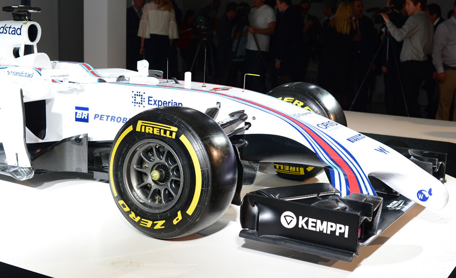 A close up of the Williams FW36