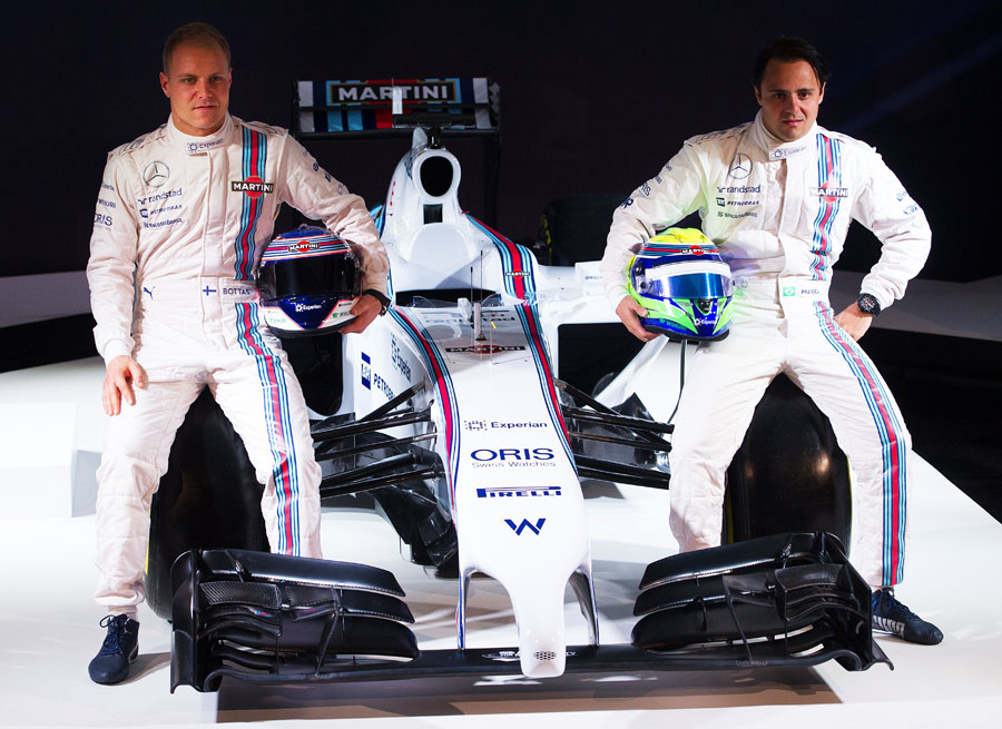 Valtteri Bottas and Felipe Massa at the launch of the Williams FW36