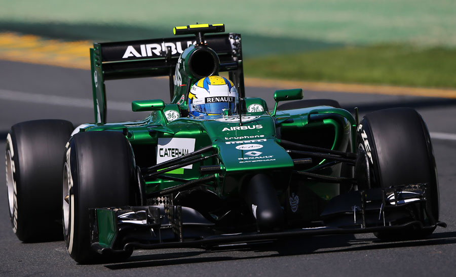 Caterham's Marcus Ericsson behind the wheel of the Caterham