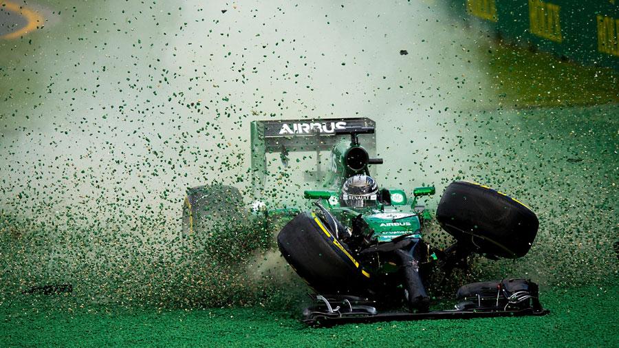Kamui Kobayashi's race ends on the first corner