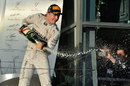Nico Rosberg celebrates victory in the season opener