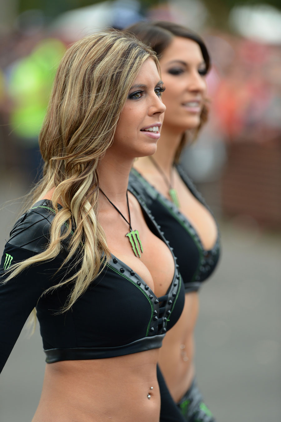 A grid girl at Albert Park