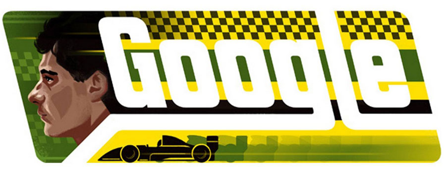 Google honours the memory of Ayrton Senna with a special 'Doodle' for the day of his birthday on March 21