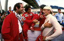 Ron Dennis, Alain Prost and Niki Lauda before the start of the race