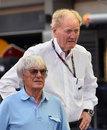 Bernie Ecclestone and Aus GP chief Ron Walker