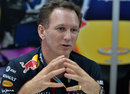 Christian Horner talks to the media
