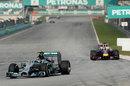 Nico Rosberg leads Sebastian Vettel