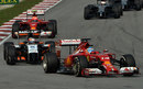 Fernando Alonso enters a turn with Nico Hulkenberg in close company