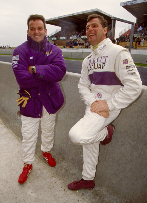 Jaguar team-mates Kenny Acheson and Derek Warwick